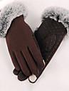 Damă Solid Iarnă Casual Poliester,Lungime Încheietură Vârfurile Degetelor Negru Gri Mov Maro Roșu Vin