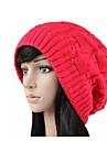Damă Solid Iarnă Toamnă Casual Îmbrăcăminte tricotată,Beanie/Slouchy Negru Galben Rosu Roz