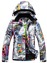 GQY® Femme Veste de Ski Etanche Chaud Coupe Vent Ski Sports d\'hiver Polyester Veste Hiver Tenue de Ski