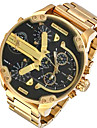 Bărbați Ceas La Modă Ceas de Mână Ceas Militar  Ceas Elegant  Quartz Calendar Punk Zone Duale de Timp  Aliaj Bandă Charm Lux Casual Cool