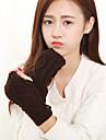tricotaje încheietura mâinii lungime a femeilor jumătate deget drăguț / partid / iarnă mănuși ocazional negru / alb / maro / gri