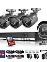 annke® 8ch cctv-systemkamera 720p ahd dvr 4sts 1.0 mp ir utomhus säkerhet kameraövervakningssystem med 1tb