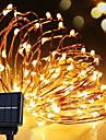 solare de putere de sârmă de lumină impermeabil condus de benzi 10m 100ml lampă de sârmă de cupru cald alb pentru lumini decorative în aer liber