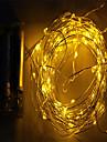 2m 10led 3aa batteridriven vattentät dekoration ledde koppartråd ljus sträng för julen bröllopsfest