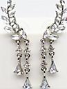 Pentru femei Resin Cercei cu Clip / Cătușe pentru urechi - Imitație de Perle, Ștras, Diamante Artificiale Lux Auriu / Argintiu Pentru Petrecere / Zilnic / Casual