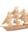 تركيب خشبي المقاتل سفينة المستوى المهني خشبي 1pcs للأطفال صبيان هدية