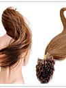 Mänskligt hår Fusion/U-spets Medel (90g-120g) Ret Människohår förlängningar