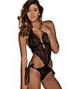 Feminin Ultra Sexy / Teddy Pijamale Dantelă Solid Negru