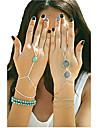 Pentru femei Brățări cu Talismane Ring Bracelets Design Unic Confecționat Manual Modă Turcoaz Aliaj Altele Bijuterii Petrecere Zilnic