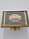 Accessoire de robinet - Qualite superieure - Antique Laiton Drain de plancher - terminer - Laiton Antique