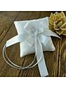 panglici de fildes arc de satin 1 piesa inel perna ceremonia de nuntă