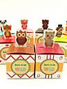 Creative Cubic Hârtie cărți de masă Favor Holder cu Model Cutii de Savoare