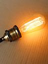1pc 25 W E26 / E26 / E27 / E27 ST58 Blanc Chaud Ampoule incandescente Edison Vintage 220-240 V / 110-130 V