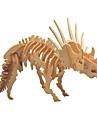 Quebra-Cabecas 3D Quebra-Cabecas de Madeira Modelos de madeira Triceratops Dinossauro Ossos Fosseis Faca Voce Mesmo De madeira 1 pcs Criancas Adulto Para Meninos Para Meninas Brinquedos Dom