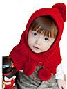 Fete Căciuli & Băști - Iarnă Îmbrăcăminte tricotată Bej Galben Rosu Roz