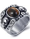 Bărbați Onyx Inel de declarație / Inel - Oțel titan Vintage 8 / 9 / 10 Negru / Maro Pentru Zilnic / Casual