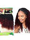 8バンドル ブラジリアンヘア Kinky Curly ウェーブ 10A バージンヘア オンブル' 8-14 インチ オンブル' 人間の髪織り 人間の髪の拡張機能