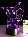 Lampe de table de dessin anime avec effet 3d led fun jour ferie lumiere de lumiere de nuit pour bebe et decoration cadeau d\'anniversaire