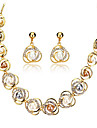 Pentru femei Seturi de bijuterii Ștras Imitație de Perle Perle 18K Aur Aliaj European Nuntă Petrecere Zilnic 1 Colier 1 Pereche de Cercei