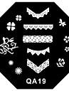 1pcs stämpling Plate Stilig / Mode Nail Art Design Moderiktig design Dagligen