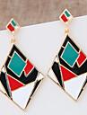 Cercei Picătură Declaratie de bijuterii La modă Bloc de Culoare European Aliaj Geometric Shape Negru Curcubeu Bijuterii Pentru 1 pereche