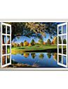 Peisaj Botanic #D Perete Postituri Autocolante perete plane 3D Acțibilduri de Perete Autocolante de Perete Decorative, Vinil Pagina de
