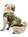 Katt Hund T-shirt Tröja Väst Hundkläder Klassisk Gulligt Semester Ledigt/vardag Mode Sport Kamouflage Svart Orange Grön Blå Rosa Kostym