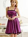 Feminin Ultra Sexy Costume Pijamale,Subțire Dantelă Spandex-Sexy Dantelă Bloc Culoare Alb Roz Violet Roșu Negru