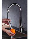 Nutida Konst Dekor / Retro Moderna Hög Arc standard Pip Utdragbar / Pull-down Centerset Regndusch Utdragbar dusch Roterbar Keramisk Ventil