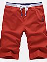 Bărbați Activ Șic Stradă Mărime Plus Size Bumbac Zvelt Pantaloni Scurți Pantaloni Mată