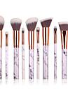 Professionel Make-up pensler Brush Sets 10pcs Øko Venlig Professionel Fuld Dækning Begrænser bakterier Syntetisk Hår Plastik Makeupbørster til