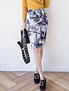 Pentru femei Mărime Plus Size Bodycon Vintage Fuste Crăpătură Imprimeu