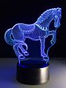7colors schimbare 3d a condus nightlights de animale lămpi de masă lampă de birou zebră de cal USB noptiera cal acasă decorare atingere