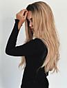 Femme Perruque Synthetique Sans bonnet Long Ondules Noir / Blond Fraise Cheveux Colores Racines foncees Au Milieu Perruque Naturelle