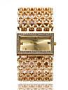 Pentru femei Ceas de Mână / Ceas Brățară imitație de diamant / Cool Oțel inoxidabil Bandă Sclipici / Casual / Elegant Argint / Auriu