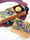 50pcs cutie de bomboane de păun bomboane box