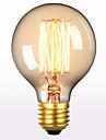 E27 60W sârmă dreaptă G80 AC 220-240V 1buc lumina retro creatoare de personalitate de artă decorativă edison bec