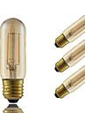 3W E26/E27 Bec Filet LED T 2 led-uri COB Decorativ Amber 180lm 2200K AC 220-240V