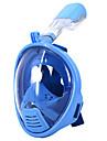 Dykning Masker Snorkelmaske Helmaske Undervands 180 grader Enkelt Vindue - Svømning Dykning Silikone - til Børn Blå Lys pink / Lækagesikker / Anti-Tåge