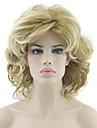 Femme Perruque Synthetique Ondule Blond Coupe Carre Perruque Naturelle Perruque Halloween Perruque de carnaval Perruque Deguisement