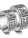 Inele Nuntă Petrecere Ocazie specială Bijuterii Placat cu platină Inele Cuplu 1 pereche,Ajustabil Argint