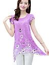 Pentru femei Mărime Plus Size Bluză Floral Decupată Poliester