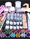 1set Glitter Nail Art Tool Nail Art Kit Multi-funktion Negle kunst Manicure Pedicure Chic & Moderne / Trendy / Fransk Tips Guide