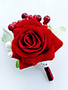 Flori de Nuntă Formă liberă Trandafiri Butoniere Nuntă Petrecere / Seară Satin Mărgea