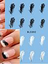10pcs Autocollant d\'art de clou Autocollants de transfert de l\'eau Maquillage cosmetique Nail Art Design