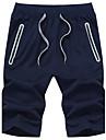 Bărbați Larg Simplu Activ Talie Medie,Micro-elastic Pantaloni Scurți Pantaloni Solid