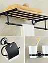 Set Accesorii Baie Neoclasic Alamă 3pcs - Hotel baie Suport perie de dinți turn bar Suporturi De Hârtie Igienică