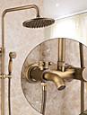 Robinet de douche - Antique Moderne Rustique Cuivre antique Set de centre Soupape ceramique