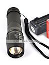 UltraFire W-878 LED-Ficklampor LED 1800 lm 5 Läge LED med batterier och laddare Greppvänlig Camping/Vandring/Grottkrypning