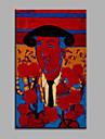 Peint a la main Abstrait Personnage Verticale,Moderne Un Panneau Toile Peinture a l\'huile Hang-peint For Decoration d\'interieur